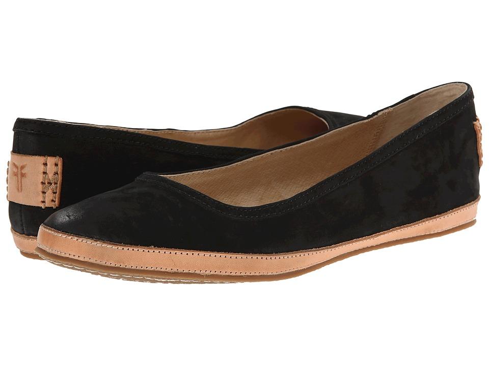 Frye - Tegan Ballet (Black Buffed Nubuck) Women's Shoes