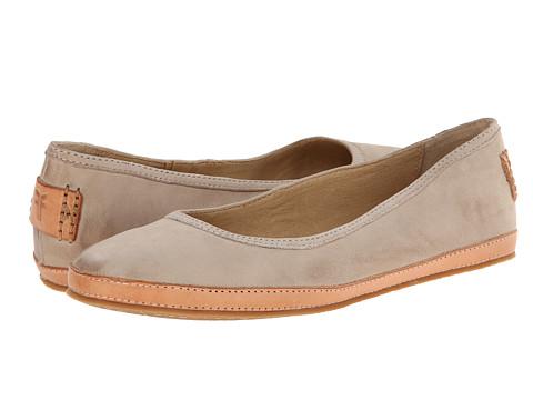 Frye - Tegan Ballet (Cement Buffed Nubuck) Women's Shoes