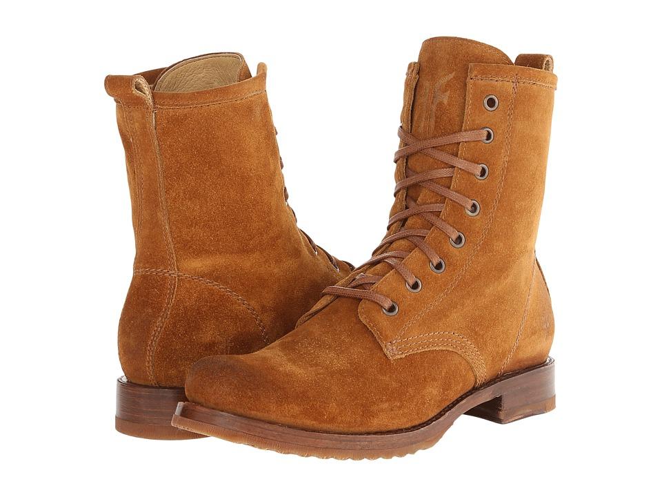 Frye - Veronica Combat (Cognac Oiled Suede) Women's Lace-up Boots