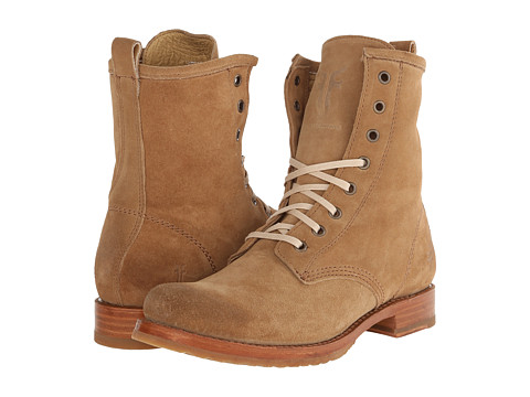Frye - Veronica Combat (Camel Oiled Suede) Women's Lace-up Boots