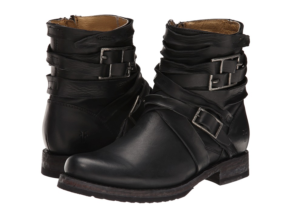 Frye - Veronica Strappy (Black) Cowboy Boots