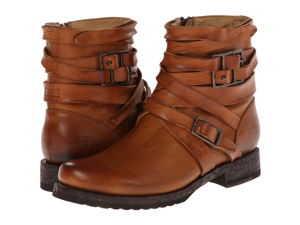 Frye Veronica Strappy (Brown) Cowboy Boots