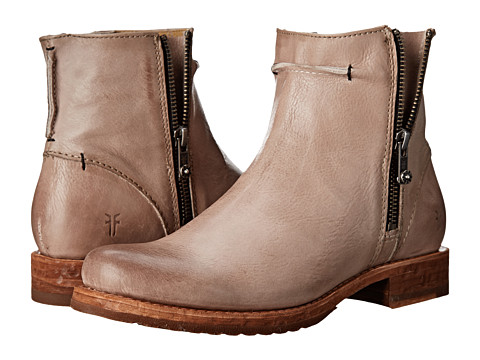Frye - Veronica Seam Short (Fawn Smooth Vintage Leather) Cowboy Boots
