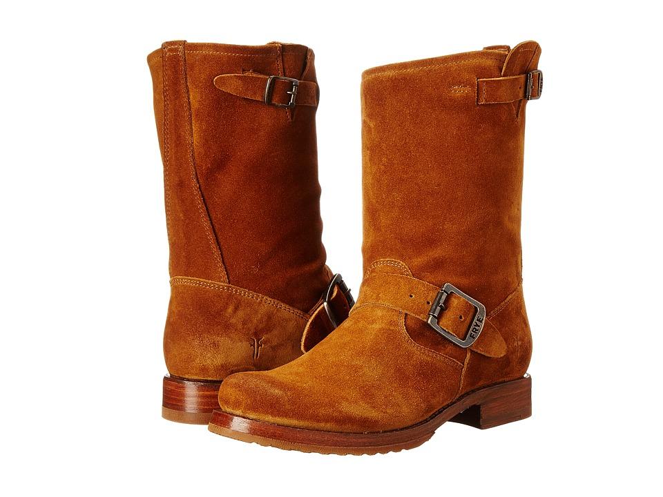 Frye - Veronica Shortie (Cognac Oiled Suede) Cowboy Boots
