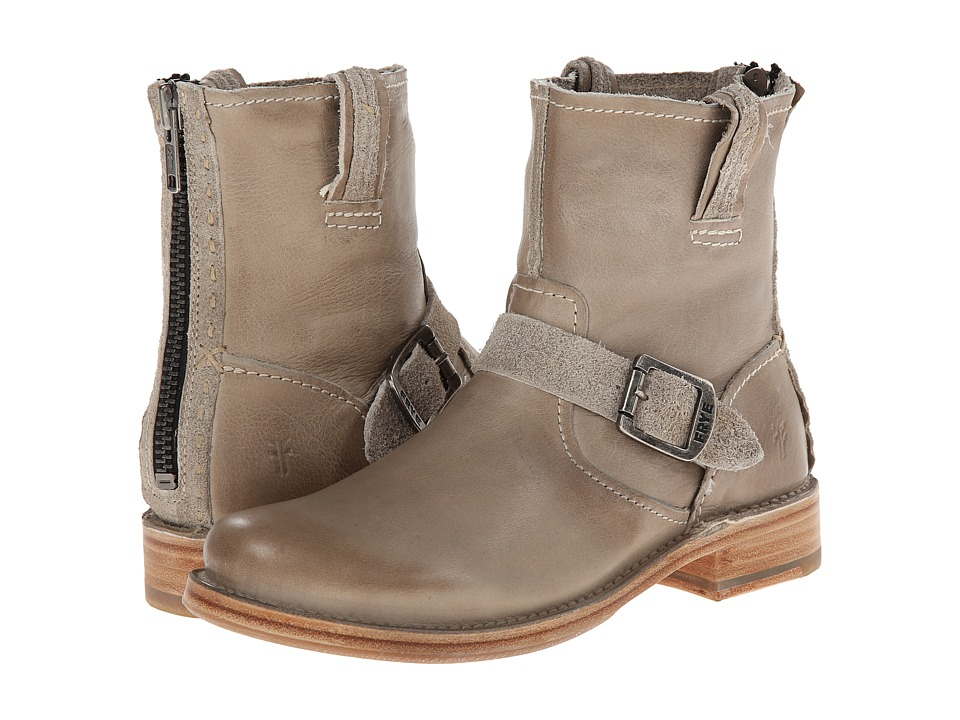 Frye - Vicky Artisan Back Zip (Bone Tumbled Full Grain) Cowboy Boots