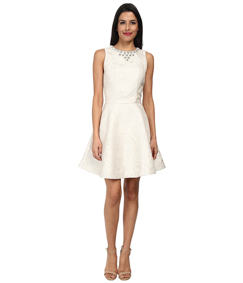 Ted Baker - Esttah Embellished High Neck Dress (Cream) Women