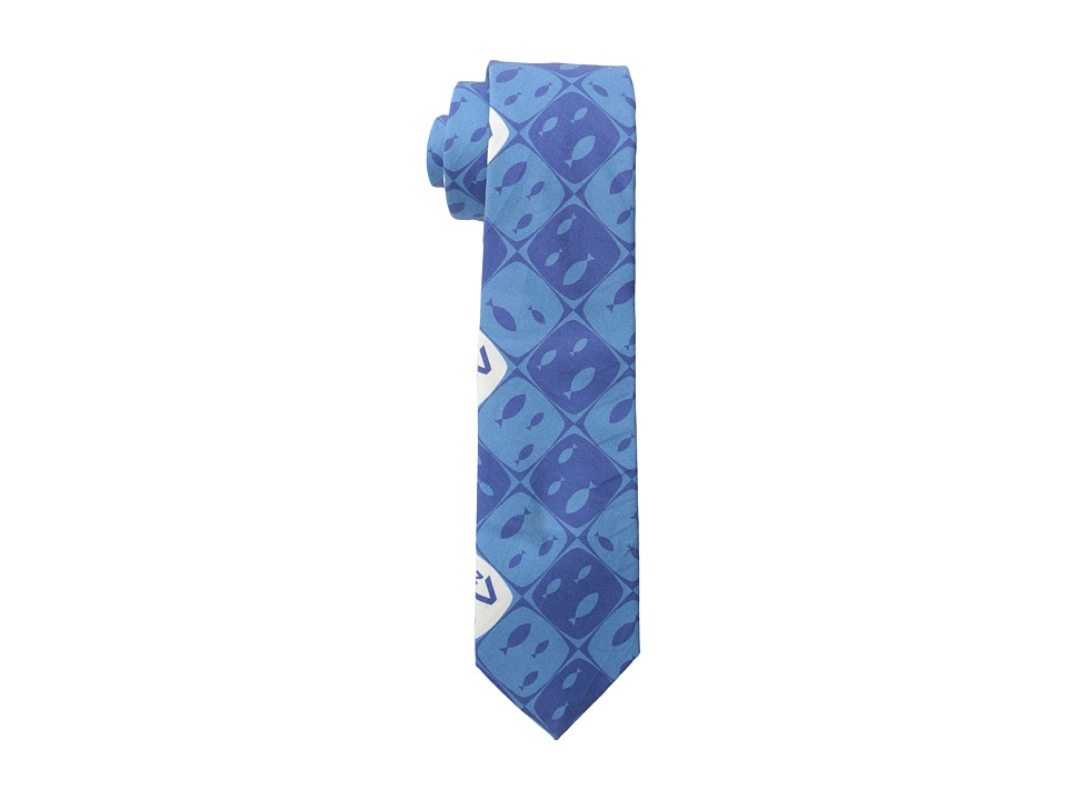 Moods of Norway - Jorgen TV Print Tie (Mid Blue) Ties
