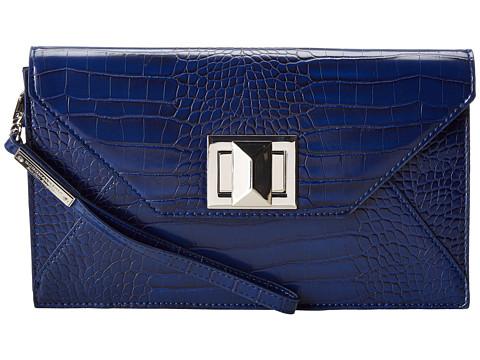 BCBGMAXAZRIA - Mattie Faux Croco Leather Clutch w/ Icon Turnlock (Cobalt/Cobalt/Academy) Clutch Handbags