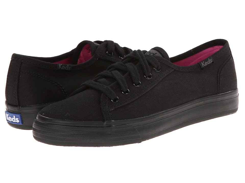 Keds Kids - Double Up (Little Kid/Big Kid) (Black/Black) Girl