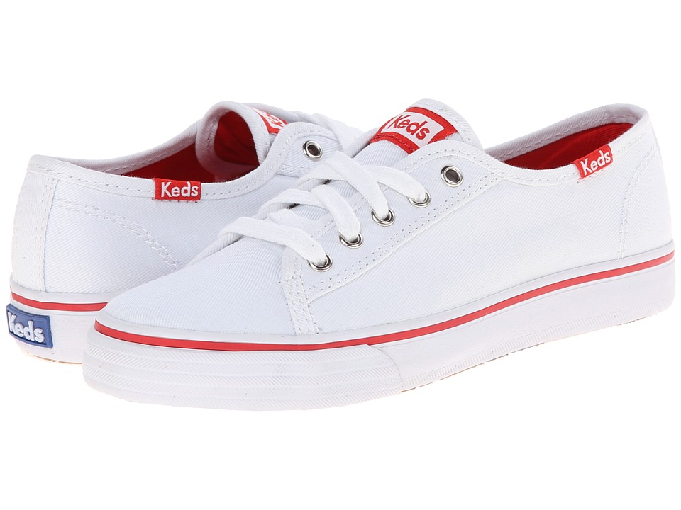 Keds Kids - Double Up (Little Kid/Big Kid) (White) Girl's Shoes