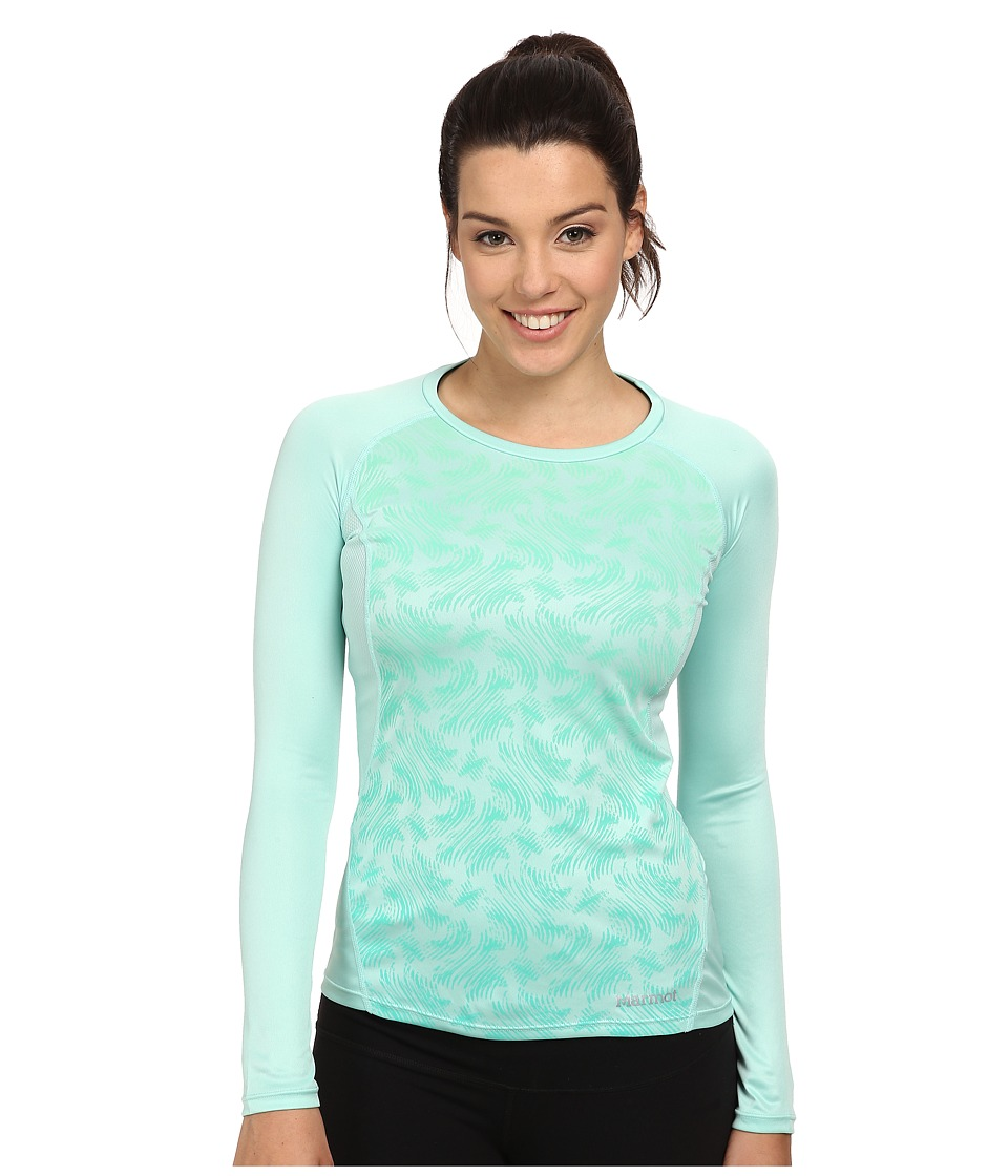Marmot - Crystal LS (Ice Green Vortex) Women's Clothing
