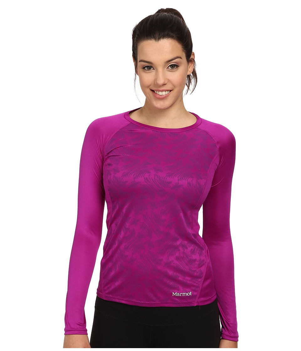 Marmot - Crystal LS (Beet Purple Vortex) Women's Clothing