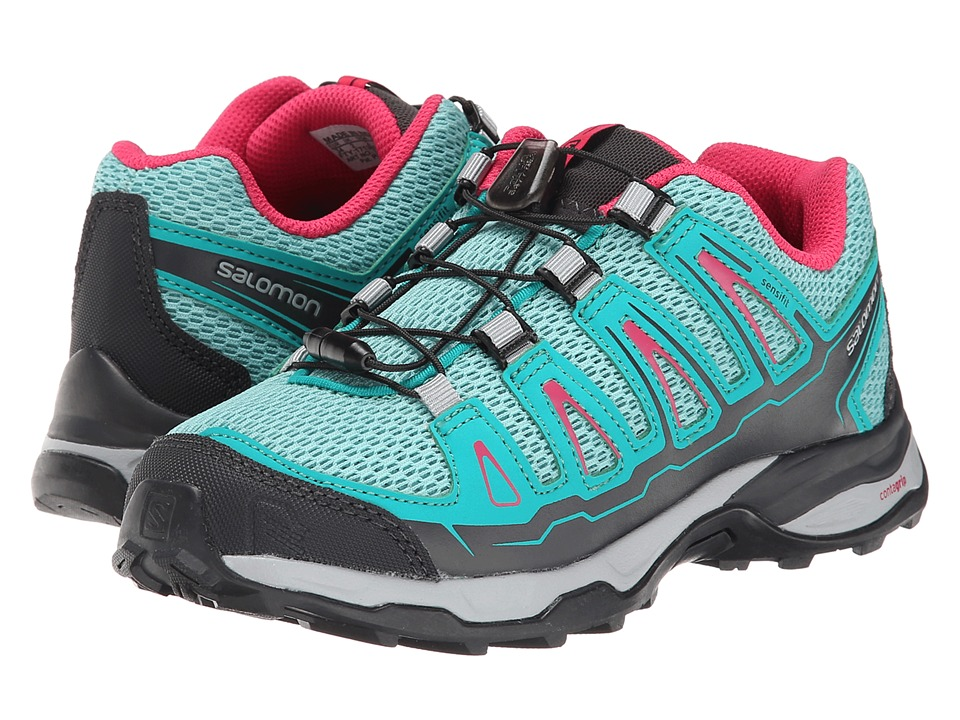 Salomon Kids - X-Ultra (Little Kid/Big Kid) (Topaz Blue/Peacock Blue/Hot Pink) Girl's Shoes
