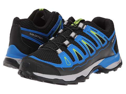 Salomon Kids - X-Ultra (Little Kid/Big Kid) (Black/Union Blue/Granny Green) Boy's Shoes
