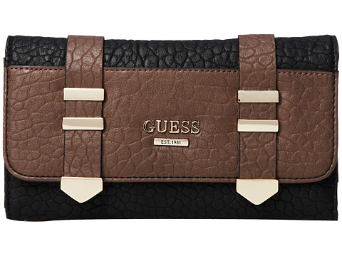 GUESS - Western Wild Multi Clutch (Black Multi) Clutch Handbags