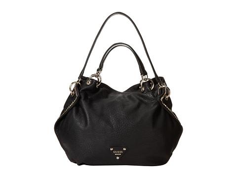 GUESS Dylan Satchel (Black) Satchel Handbags