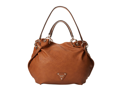 GUESS Dylan Satchel (Cognac) Satchel Handbags