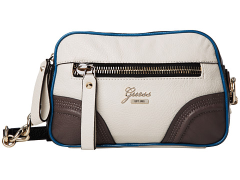 GUESS Dark Side Crossbody Camera Bag (Bone Multi) Cross Body Handbags