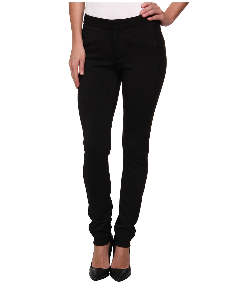 NYDJ - Embossed Ponte Legging in Black (Black) Women's Casual Pants