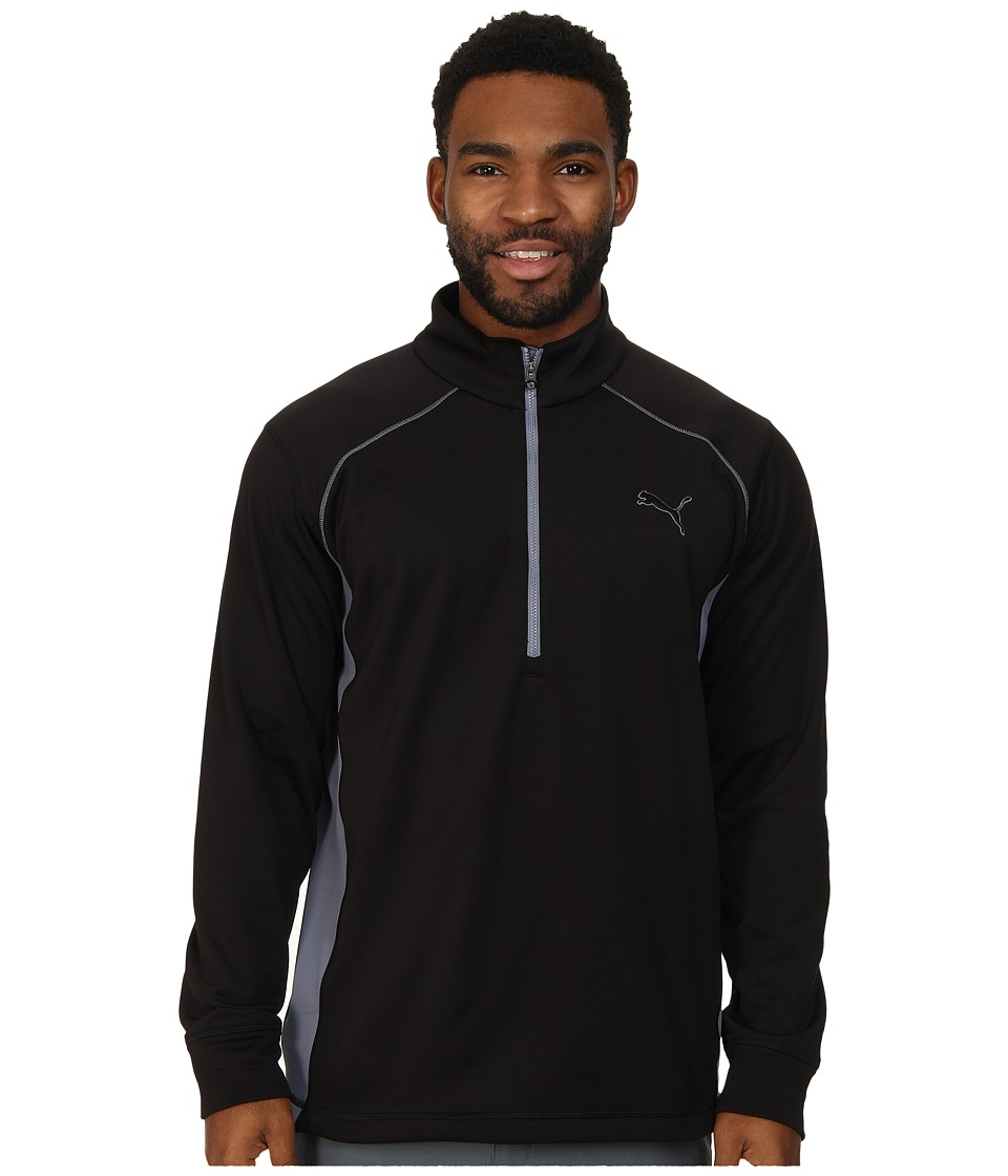 PUMA Golf - Essential Popover (PUMA Black) Men's Long Sleeve Pullover