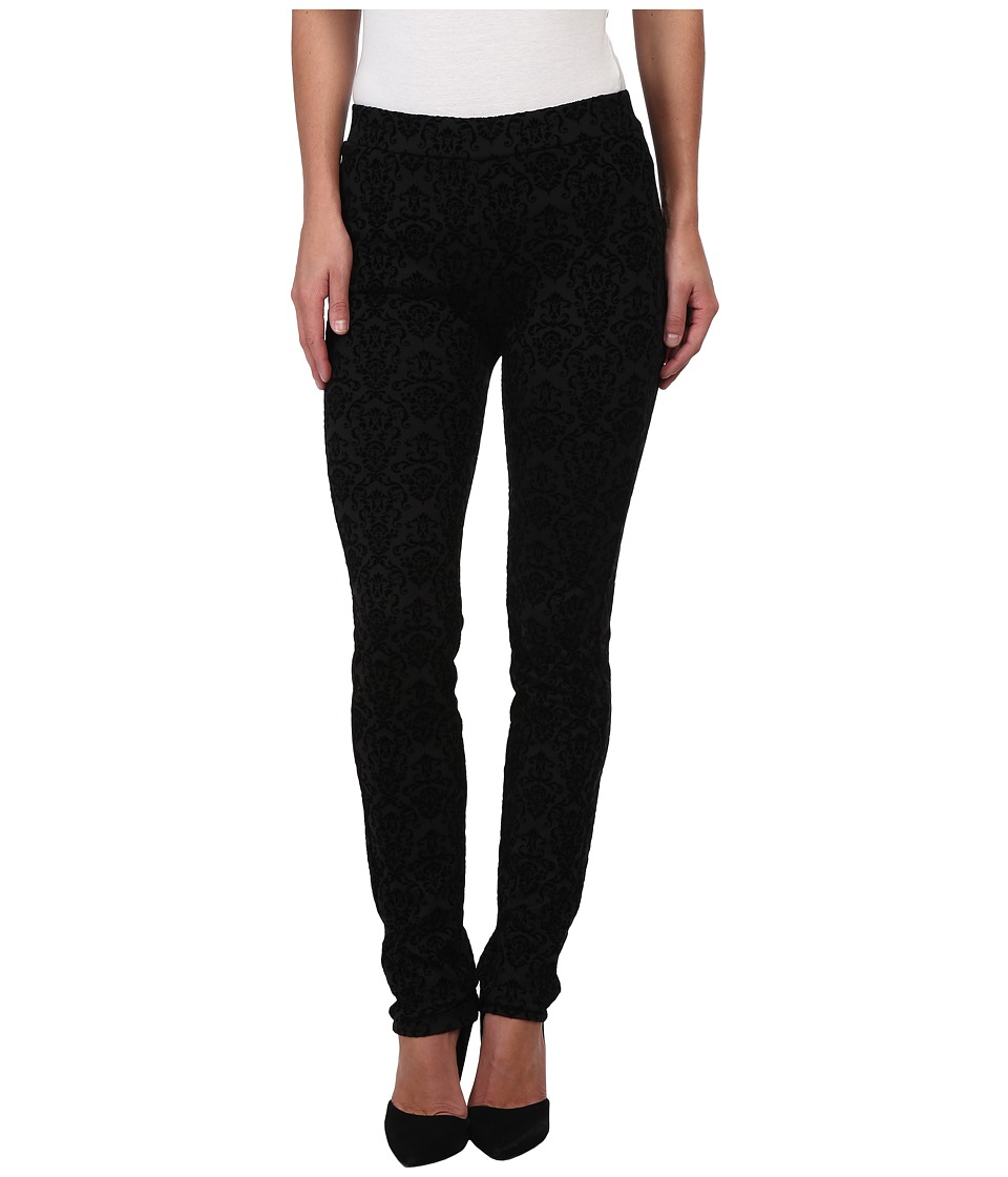 NYDJ - Brocade Flocked Ponte Legging in Black (Black) Women's Casual Pants