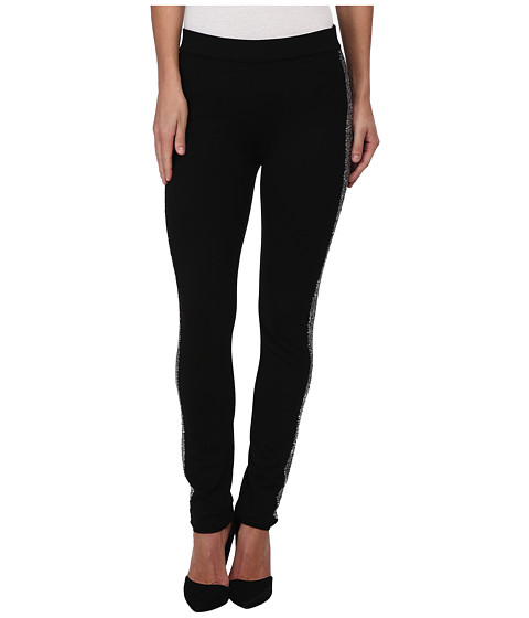 NYDJ - Sequin Panel Legging in Black (Black) Women