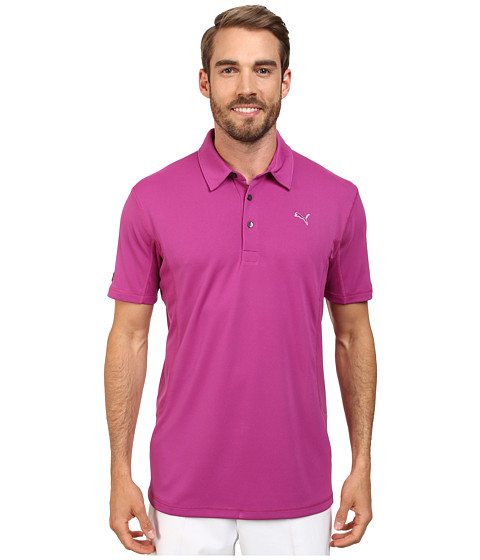 PUMA Golf - Golf Tech Polo '15 (Vivid Viola) Men's Short Sleeve Knit