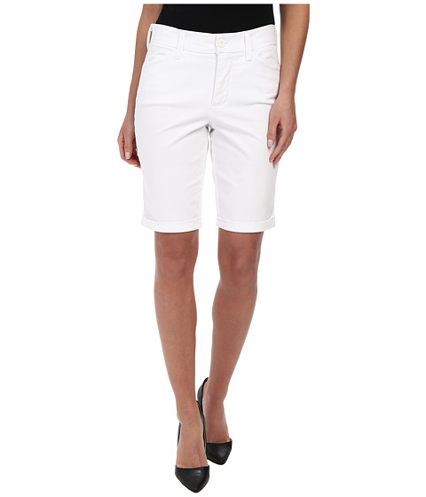 NYDJ - Briella Roll Cuff Short (Optic White) Women