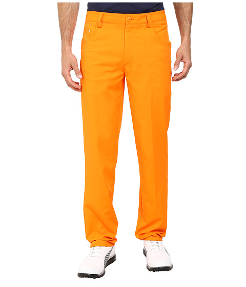 PUMA Golf - Golf Tech 6-Pocket Pant '15 (Vibrant Orange) Men's Casual Pants
