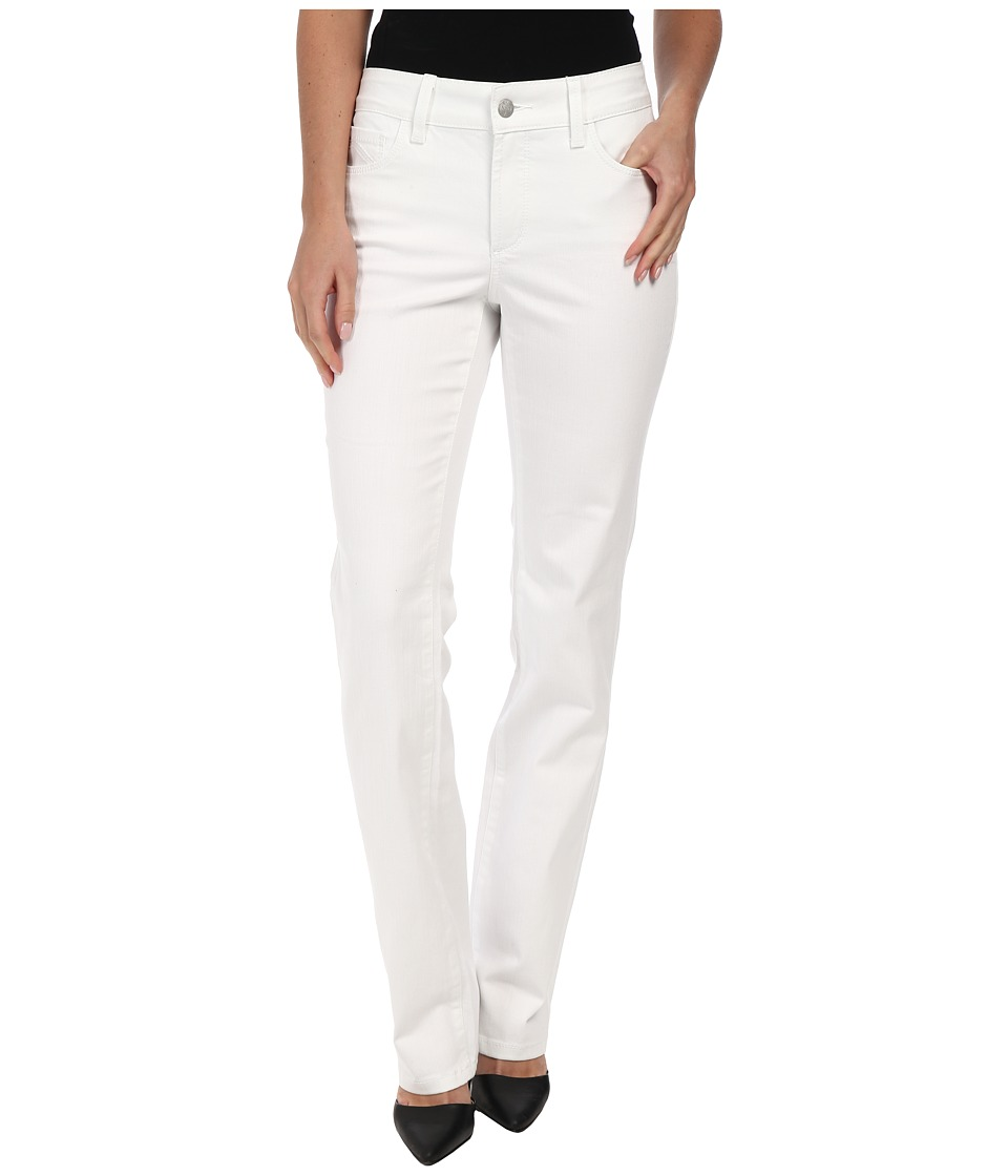 NYDJ - Marilyn Straight in Optic White (Optic White) Women's Jeans