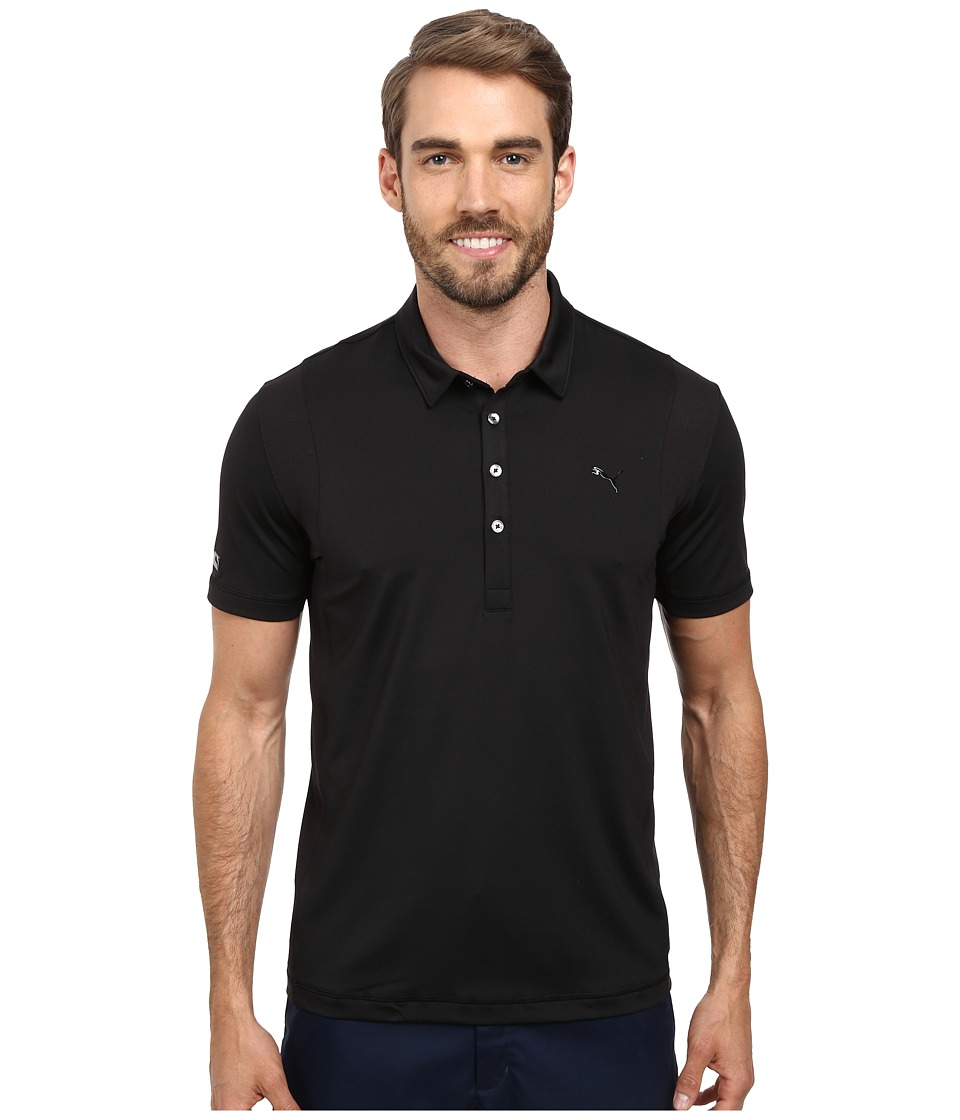 PUMA Golf - Lux Tech Polo (Black) Men's Short Sleeve Knit