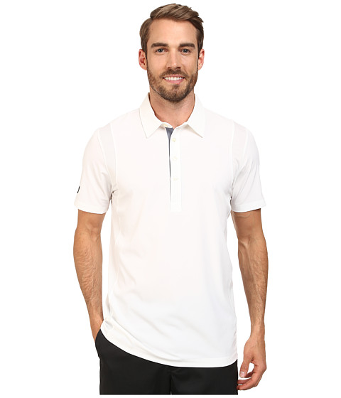 PUMA Golf - Mesh Panel Polo (White) Men's Short Sleeve Knit