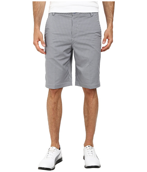 PUMA Golf - Plaid Tech Short (Folkstone Gray) Men's Shorts