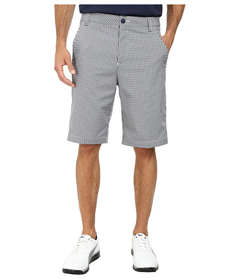 PUMA Golf - Plaid Tech Short (Puma Strong Blue) Men's Shorts