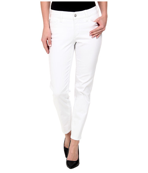 NYDJ - Clarissa Skinny Ankle Fine Line Twill in Optic White (Optic White) Women
