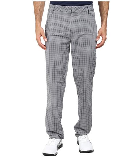 PUMA Golf - Plaid Tech Pant (Folkstone Gray) Men's Casual Pants