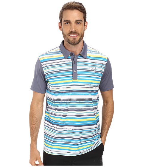 PUMA Golf - Road Map Polo (Hawaiin O/Aurora) Men's Short Sleeve Knit
