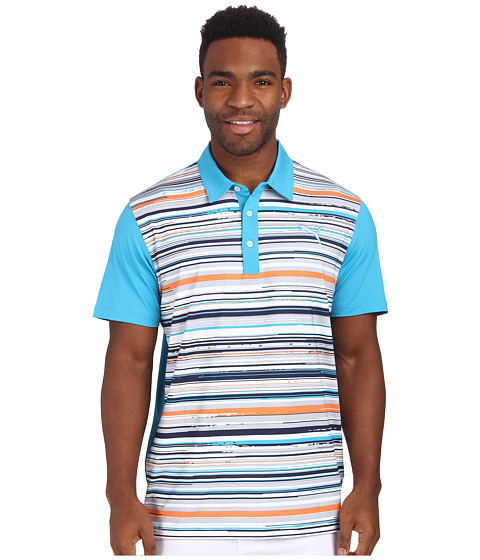 PUMA Golf - Road Map Polo (Hawaiin Ocean Multi) Men