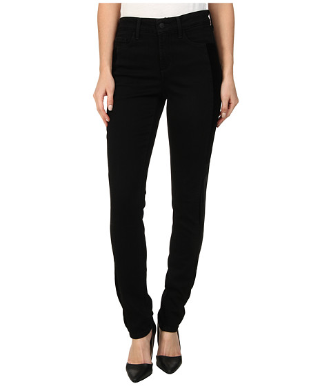 NYDJ - Alina Legging Velveteen Blocked in Black (Black) Women's Jeans
