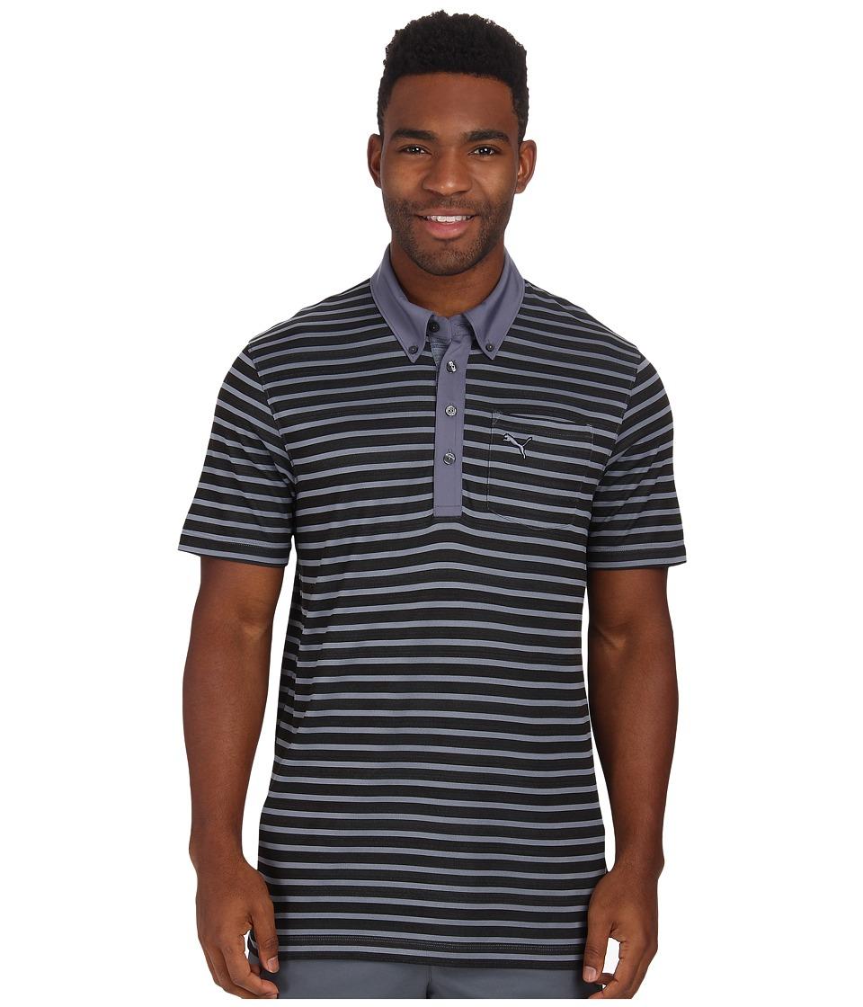 PUMA Golf - Stripe Pocket Polo (Folkstone Gray) Men