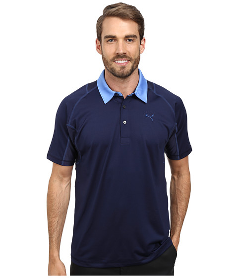PUMA Golf - Titan Tour Polo (Peacoat/Strong Blue) Men's Short Sleeve Knit