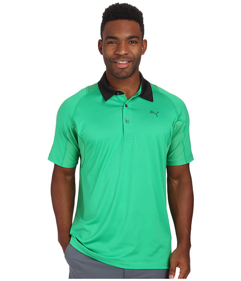 PUMA Golf - Titan Tour Polo (Bright Green) Men's Short Sleeve Knit