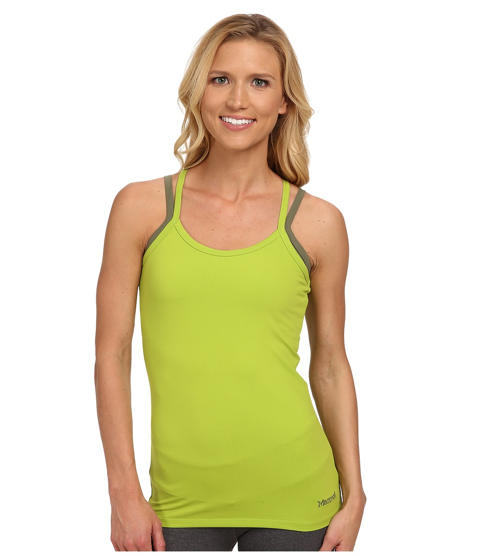 Marmot - Erin Tank Top (Acid Pepper/Stone Green) Women