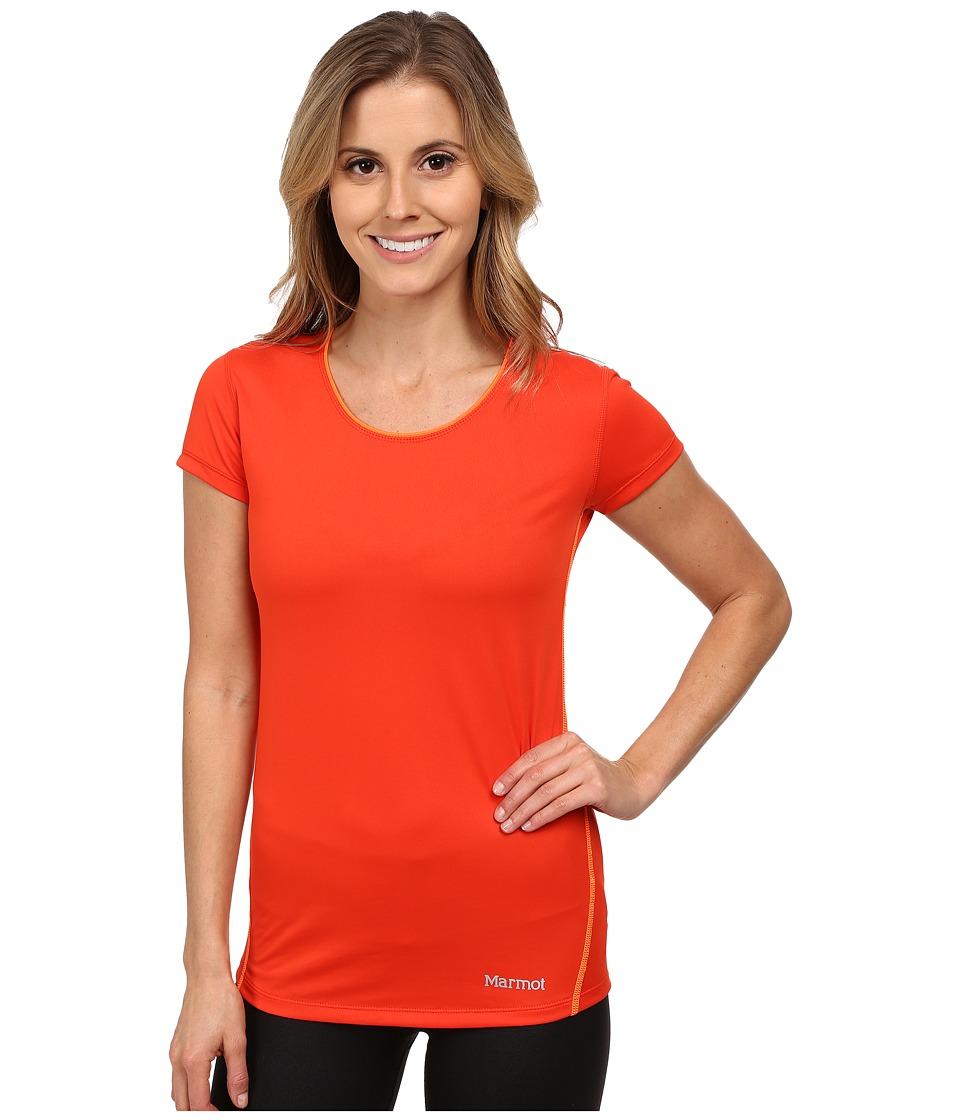 Marmot Essential S/S (Coral Sunset/Bright Orange) Women