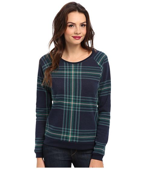 Alternative - Printed Dash Sweatshirt (Eco True Midnight Plaid) Women's Sweatshirt