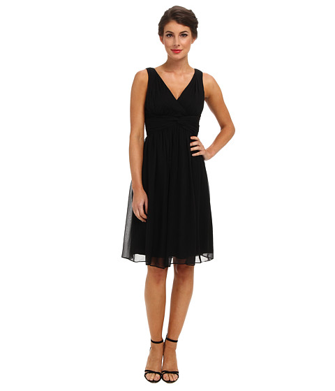 Donna Morgan - Jessie Silk Chiffon Dress (Black) Women