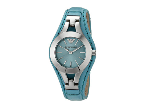 Emporio Armani - AR7381 (Light Blue/Silver) Watches