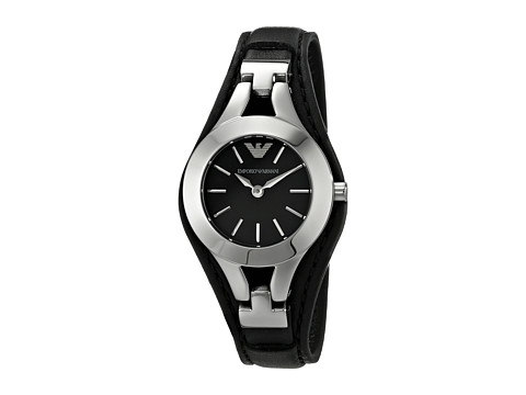 Emporio Armani - AR7380 (Black/Silver) Watches