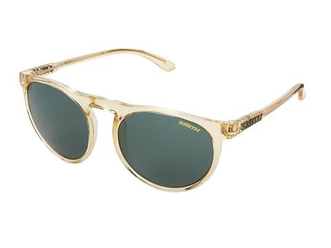 Smith Optics Marvine (Tan Crystal/Green Carbonic Lenses) Plastic Frame Fashion Sunglasses