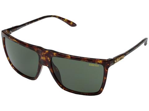 Smith Optics Cornice (Yellow Tortoise/Gray Green Carbonic TLT Lenses) Plastic Frame Fashion Sunglasses
